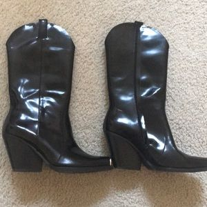 Authentic JeffreyCampbell patent leather boots